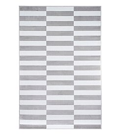 Lavish Home Checkered Stripes Accent Rug