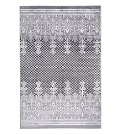 Lavish Home Royal Garden Gray Accent Rug