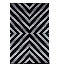 Lavish Home Kaleidoscope Black Accent Rug
