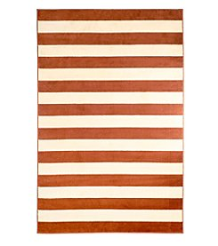 Lavish Home Dark Amber Stripe Accent Rug