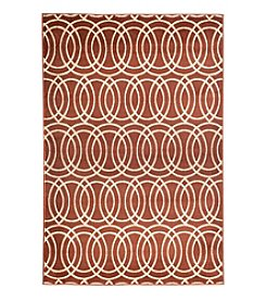 Lavish Home Geometric Brick Accent Rug