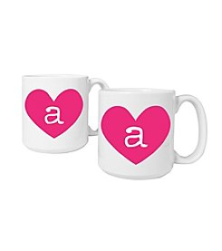 Cathy's Concepts Set of 2 Personalized 20-oz. Heart of Love Large Coffee Mugs