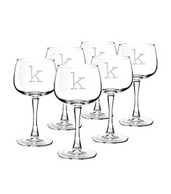 Cathy's Concepts Set of 6 Personalized 13-oz. Red Wine Glasses