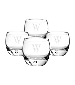 Cathy's Concepts Set fo 4 Personalized 10-oz. Heavy Based Whiskey Glasses