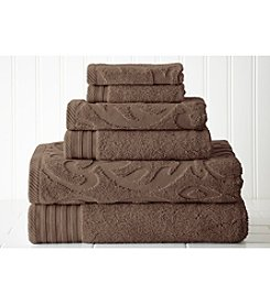 Pacific Coast Textiles® Medallion Swirl and Solid 6-pc. Towel Set
