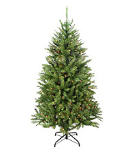 6' Pre-Lit Essex Pine Artificial Christmas Tree with Multicolored Lights