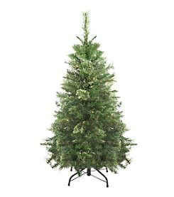 4' Pre-Lit Atlanta Mixed Cashmere Pine Artificial Christmas Tree with Clear Lights