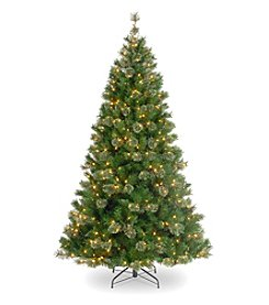 Pre-Lit Atlanta Mixed Cashmere Pine Artificial Christmas Tree with Clear Lights