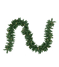 Pre-Lit Traditional Pine Artificial Christmas Garland with Clear Lights