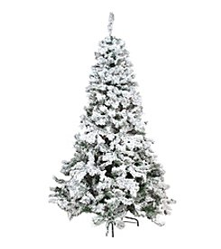 Heavily Flocked Pine Artificial Unlit Christmas Tree