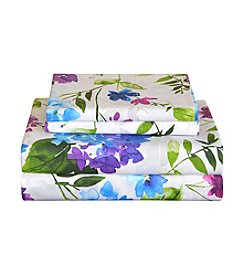 Pointehaven Primavera 200-Thread Count Printed Percale Sheet Set