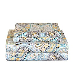 Pointehaven Cypress 200-Thread Count Printed Percale Sheet Set