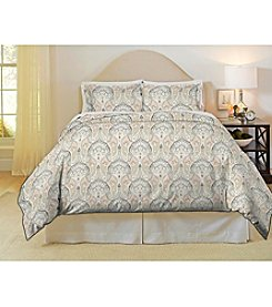 Pointehaven Cedar 200-Thread Count Printed Percale 3-pc. Duvet Set