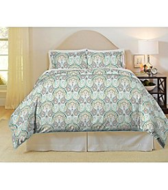 Pointehaven Cypress 200-Thread Count Printed Percale 3-pc. Duvet Set