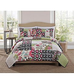 Pem-America, Inc.® Retro Chic Gypsy Pink Block 3-pc. Quilt Set