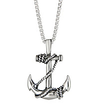 Stainless Steel Anchor Pendant with 24