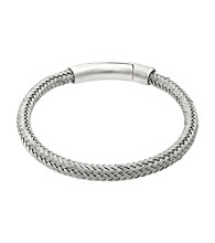 Stainless Steel Braided Bracelet with Magnetic Lock