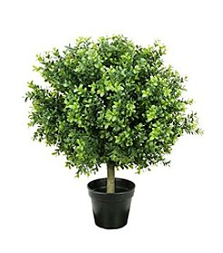 Potted Two-Tone Artificial Murraya Ball Topiary Tree