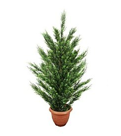 4' Potted Two-Tone Artificial Cypress Tree