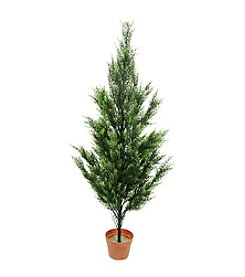 4.5' Potted Two-Tone Artificial Cypress Tree