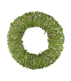 Artificial Spring Wreath with Green Moss and Vines