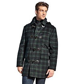 Lauren Ralph Lauren Men's Plaid Wool Toggle Coat