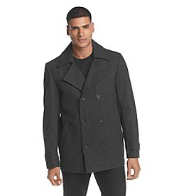 Calvin Klein Men's Double Breasted Wool Peacoat
