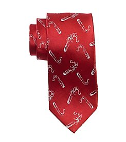 HO HO HO Men's Holiday Tossed Candy Cane Tie