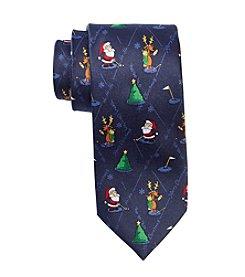 HO HO HO Men's Holiday Golfing Santa Tie
