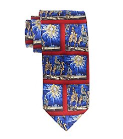 HO HO HO Men's Multicolor Holiday Three Kings Tie