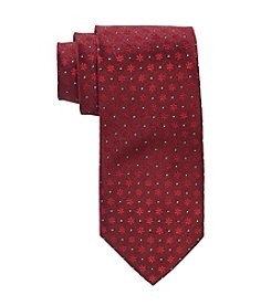 HO HO HO Men's Allover Mini Holiday Snowflake Pattern Tie