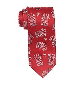 HO HO HO Men's Holiday Christmas Presents Pattern Tie