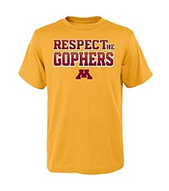 NCAA® Minnesota Boy's 8-20 Respect Short Sleeve Tee