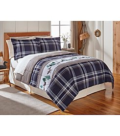 LivingQuarters Reversible Microfiber Down-Alternative Lodge Plaid Comforter