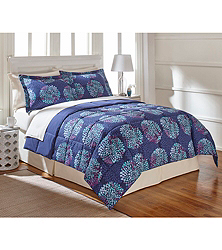 LivingQuarters Reversible Microfiber Down-Alternative Comforter (Twin / Twin XL)