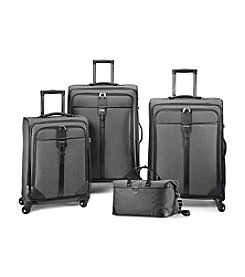 Hartmann® Herringbone Luxe Black Luggage Collection + $50 Gift Card by mail