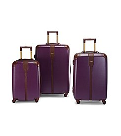 Hartmann® Herringbone Luxe Hardside Eggplant Luggage Collection