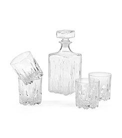 LivingQuarters Excalibur 5-Pc. Decanter And Double Old Fashioned Set