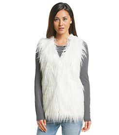 XOXO® Faux Fur Sweater Vest