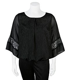 A. Byer Plus Size Woven Lace Top