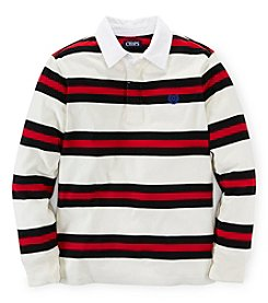 Chaps Boys' 8-20 Long Sleeve Striped Polo Top
