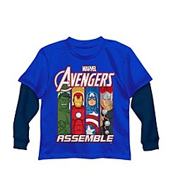 Marvel® Boys' 2T-7 Long Sleeve Avengers Tee