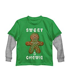 Star Wars Boys' 4-7 Sweet And Chewie Tee