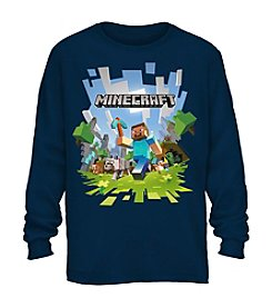 Mad Engine Boys' 8-20 Minecraft Long Sleeve Tee
