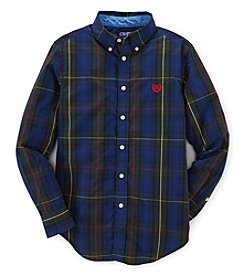 Chaps Boys' 8-20 Long Sleeve Tart Plaid Top