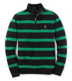 Ralph Lauren Childrenswear Boys' 8-20 Rib Mock Sweater