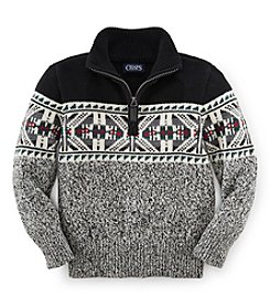 Chaps Boys' 2T-7 Snowflake Quarter-Zip Sweater