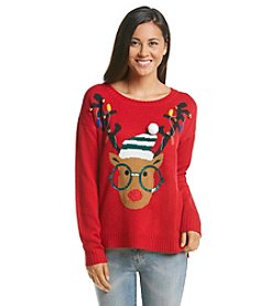 Love Always Hipster Reindeer Sweater