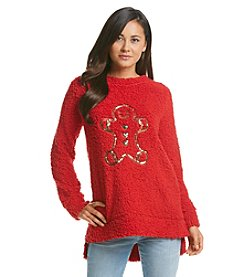 Wallflower® Gingerbread Sherpa Sweater
