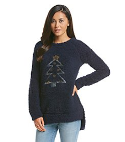 Wallflower® Christmas Tree Sherpa Pullover